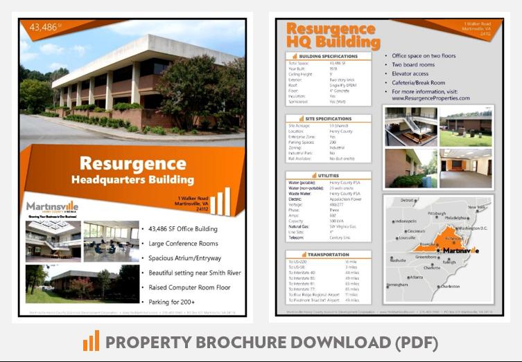 Resurgence Headquarters Office Building Martinsville VA